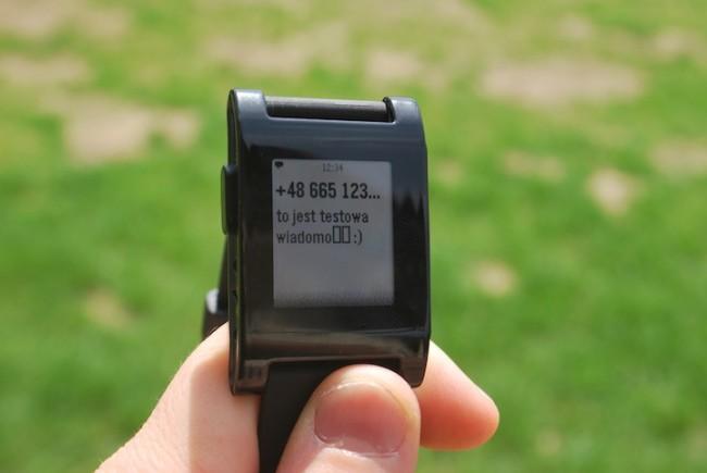 Pebble sms