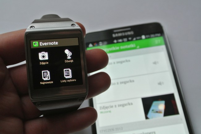 evernote samsung galaxy gear apps