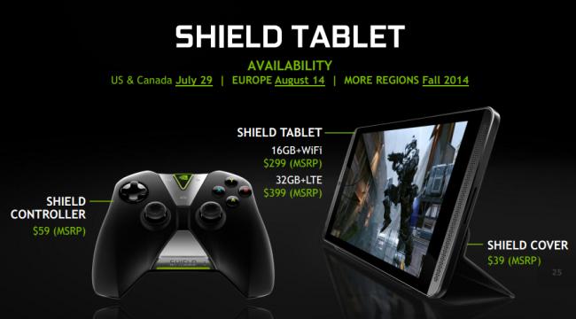 Nvidia Shield Tablet ceny