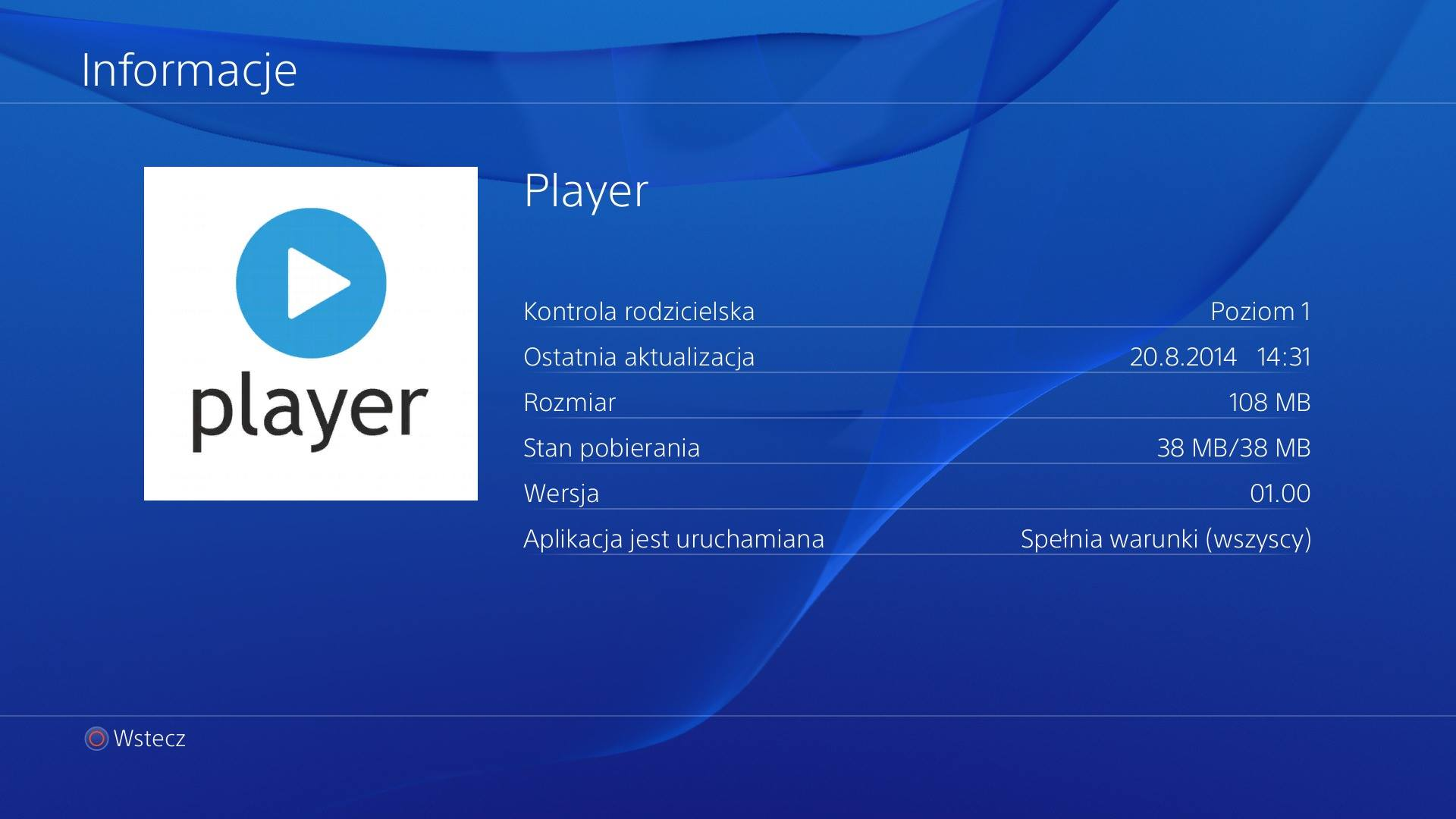 Player TVN PlayStation 4 PS4 3