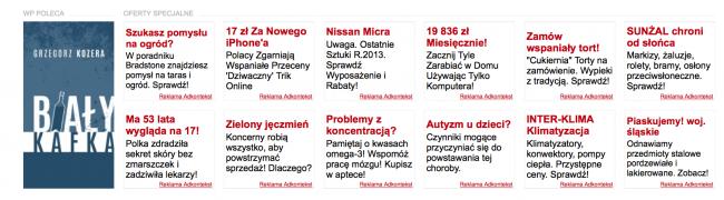 Brzydkie reklamy na Wp.pl