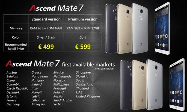 Huawei Ascend Mate 7 Cena