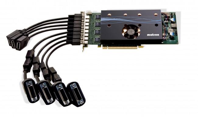 Matrox_M9188_with_DVI-SL_DisplayPort_cables