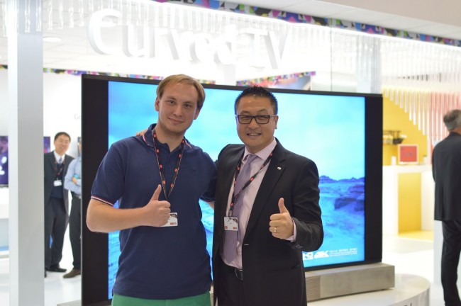 Wraz z E Hao CEO TCL Multimedia podczas IFA 2014
