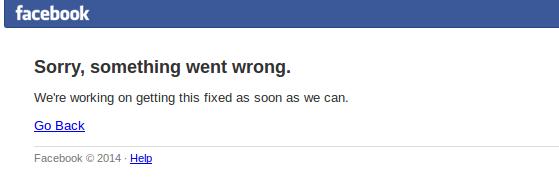 facebook nie dziala