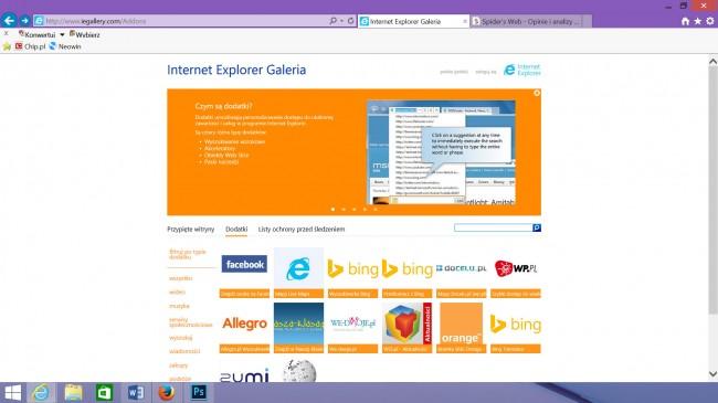 Podejrzewam, że o istnieniu rozszerzeń dla Internet Explorera większość z was dowiedziała się dopiero po lekturze tego tekstu