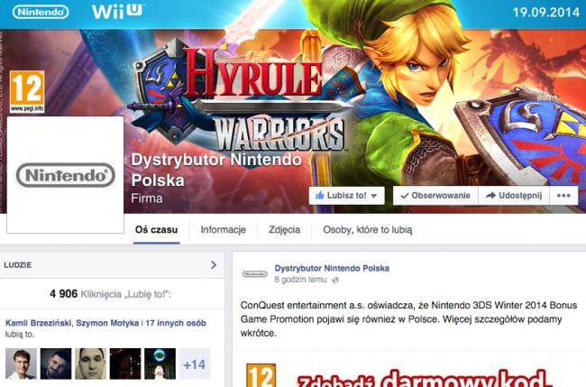 nintendo polska dystrybur facebook