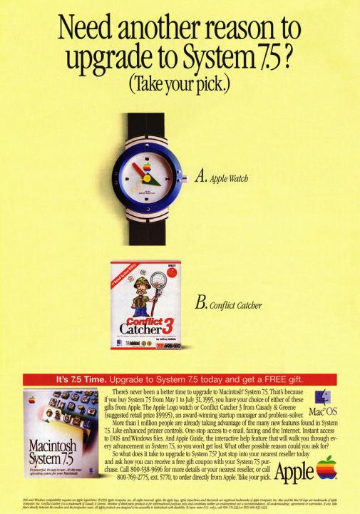 Oryginalne materiały promocyjne Apple z 1995 r.
