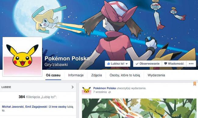 pokemon polska na facebooku