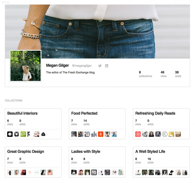 feedly profile