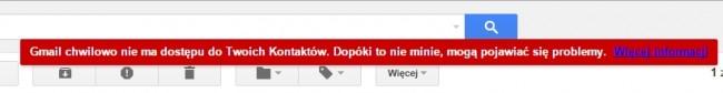 gmail awaria
