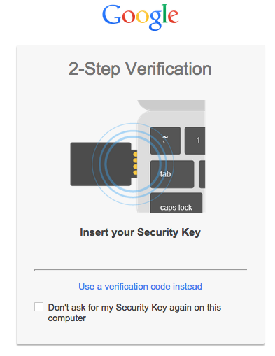 google security key