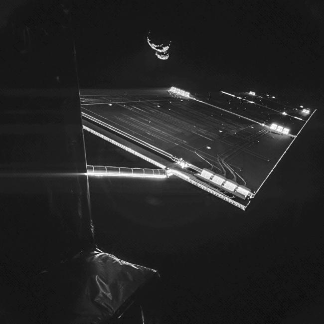 Selfie Rosetty przy komecie. Credit: ESA/Rosetta/Philae/CIVA