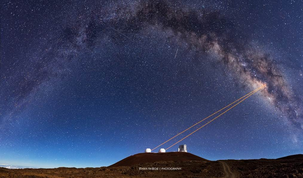 Andrea Ghez Keck Observatory image (credit, Ethan Tweedie)
