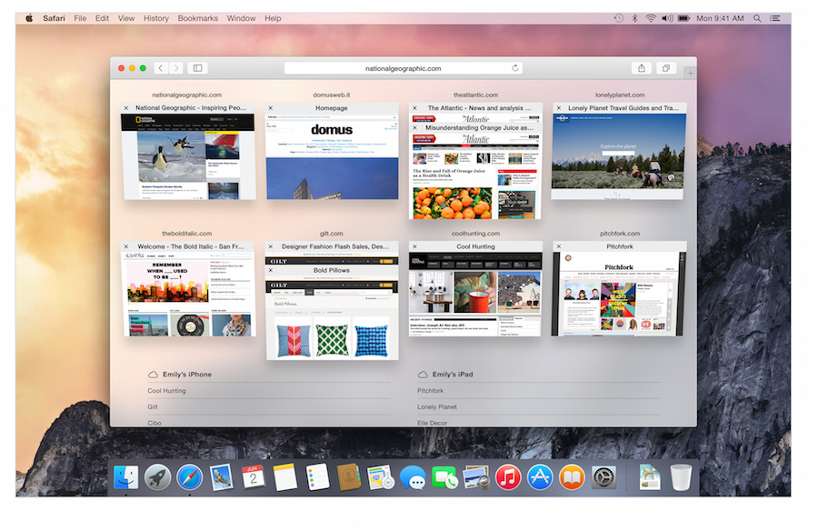 Apple Safari new tab