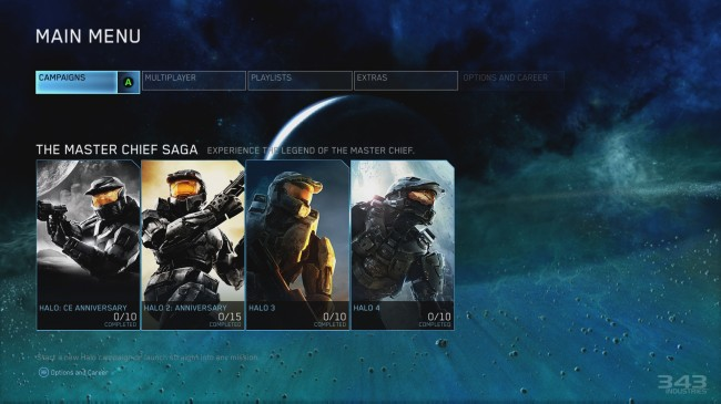 E3 2014 Halo The Master Chief Collection Menu - The Legend's Journey
