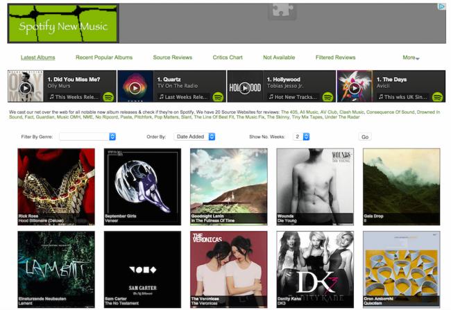 Spotify New Music