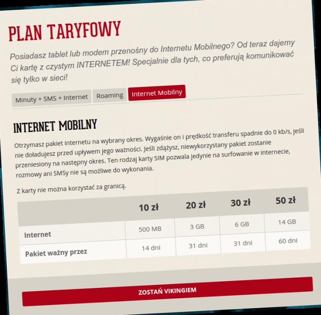 mobile vikings internet mobilny