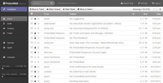 protonmail szyfrowana poczta email
