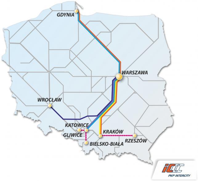 mapa pendolino