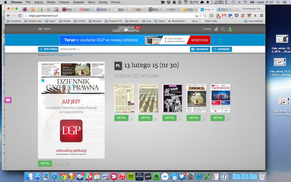 Nowy interfejs e-wydania Gazety Prawnej
