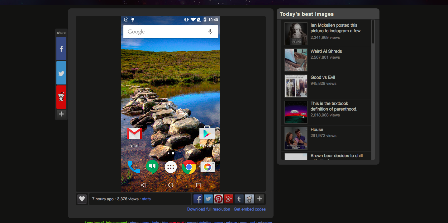Pierwszy zrzut ekranu Oxygen OS. Wyglądem przypomina czystego Androida Lollipop