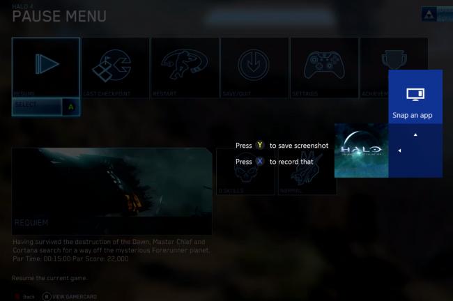 xbox one zrzut ekranu