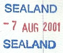 Pieczątka paszportowa Sealand