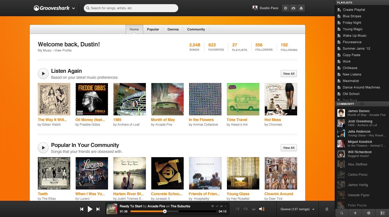 Grooveshark-Home