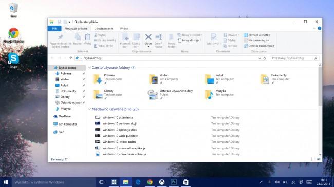windows 10 niedawno używane pliki
