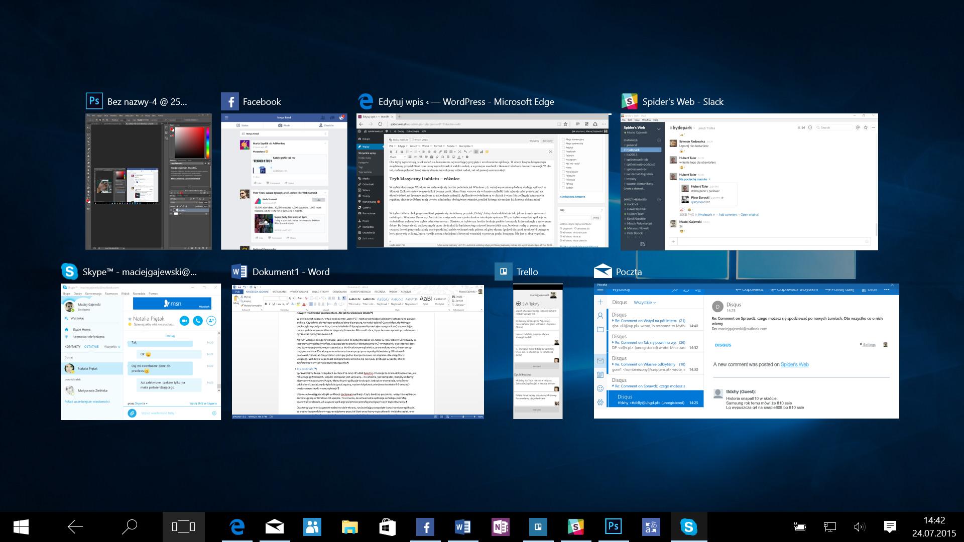 obracanie ekranu skrót windows 7