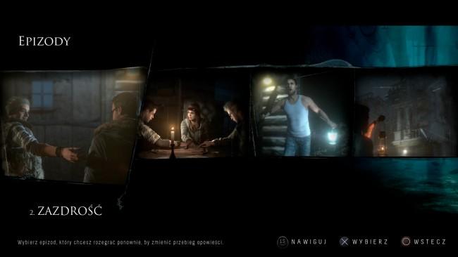 Po ukończeniu gry można wybierać dowolne jej rozdziału do ponownego rozegrania