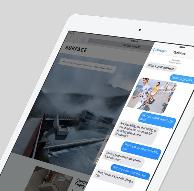 iOS 9 side view multitasking