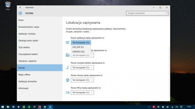 Ważna nowość dla małych tabletów - Windows 10, tak jak Windows 8.x, już potrafi instalować aplikacje na karcie pamięci