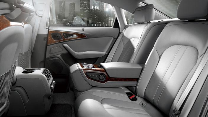 Wnętrze Audi A6L. Grafika ze strony producenta.