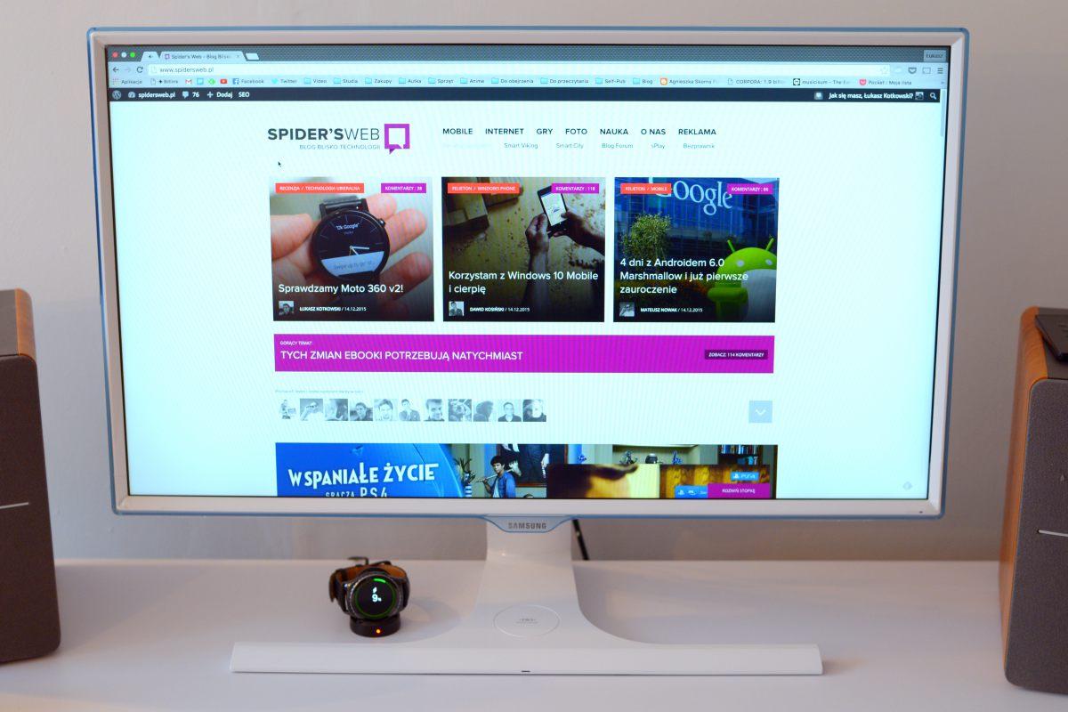 Samsung S27E370D recenzja Spider's Web