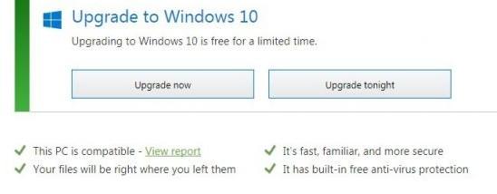 windows 10 upgrade now