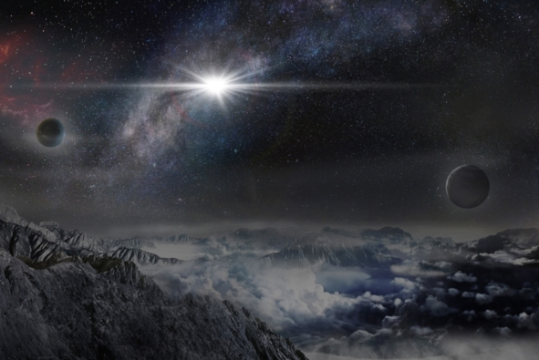 Tak wyglądałaby ASASSN-15lh na planecie oddalonej od niej o 10 tys. lat świetlnych (źródło: Beijing Planetarium / Jin Ma / Wayne Rosing)