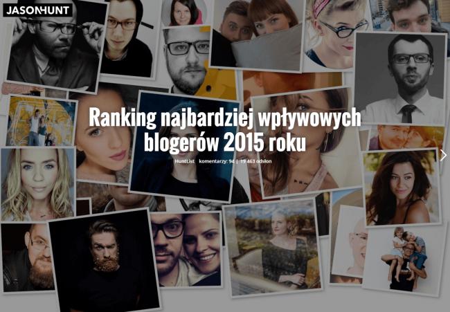 ranking blogerów