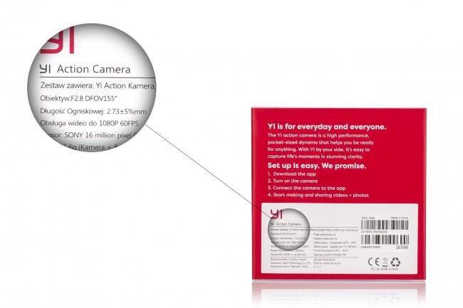 Polskie opakowanie kamery Xiaomi Yi Action Cam