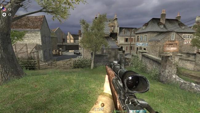 Mapa Carentan z pierwszego Call of Duty