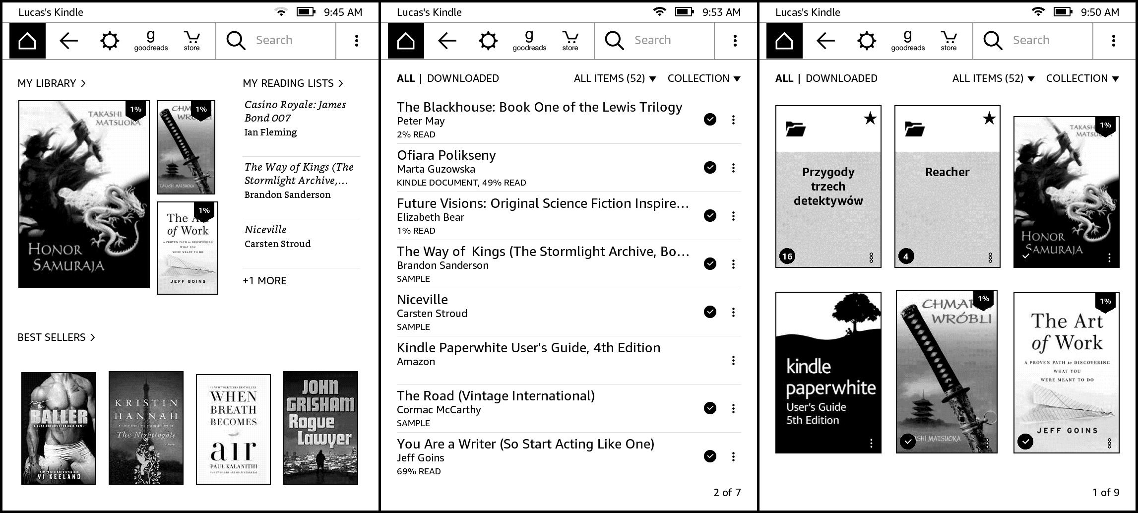 Aktualizacja Kindle zmienia głównie wygląd ekranu początkowego