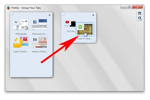 Firefox - znikają grupy kart
