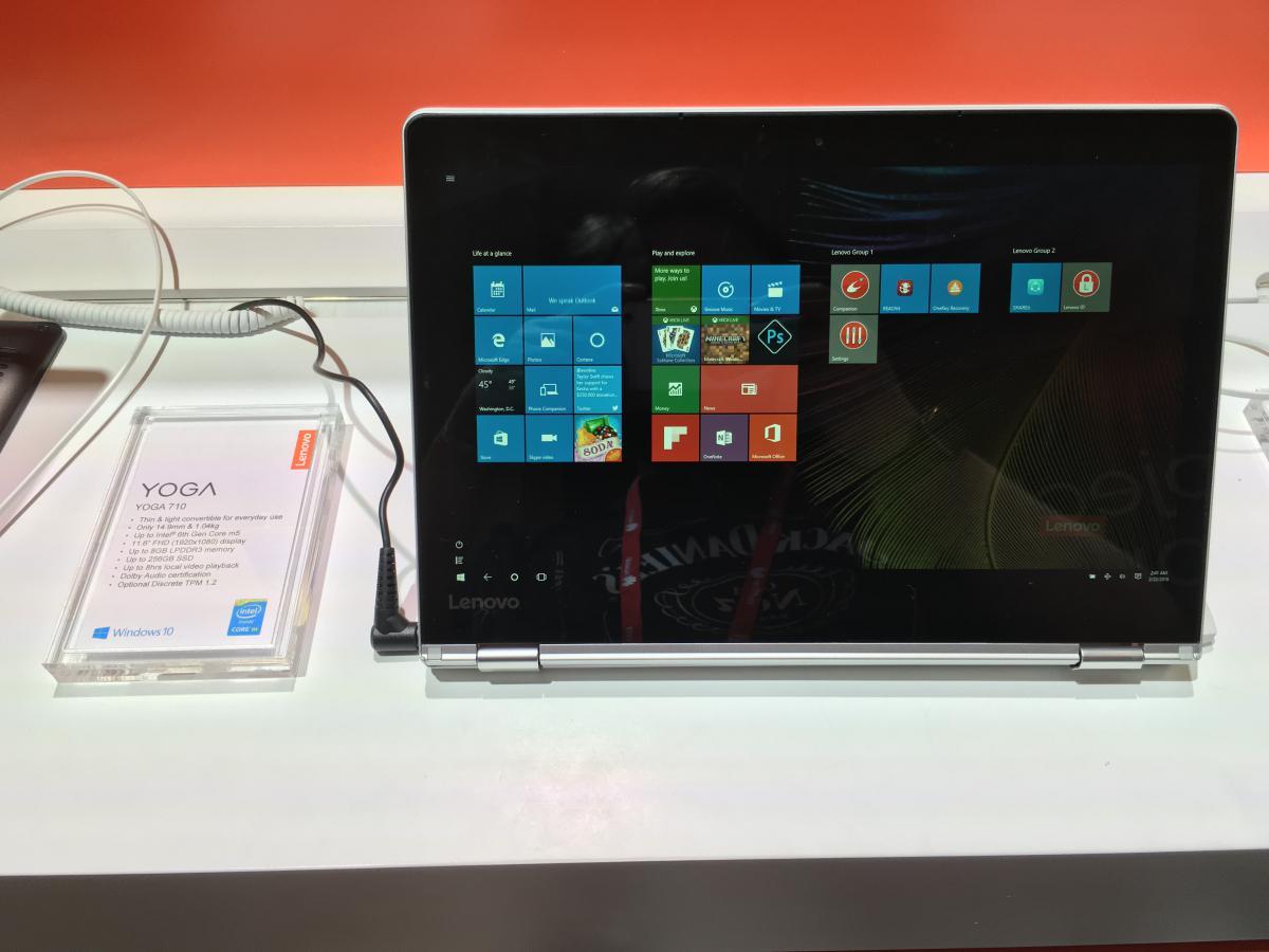 Lenovo pokazało nowe konwertowalne laptopy.