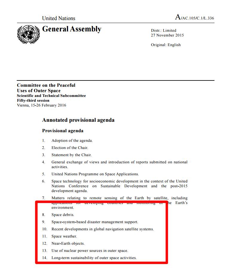 Tematy zagrożenia kosmicznego poruszane w czasie konferencji ONZ