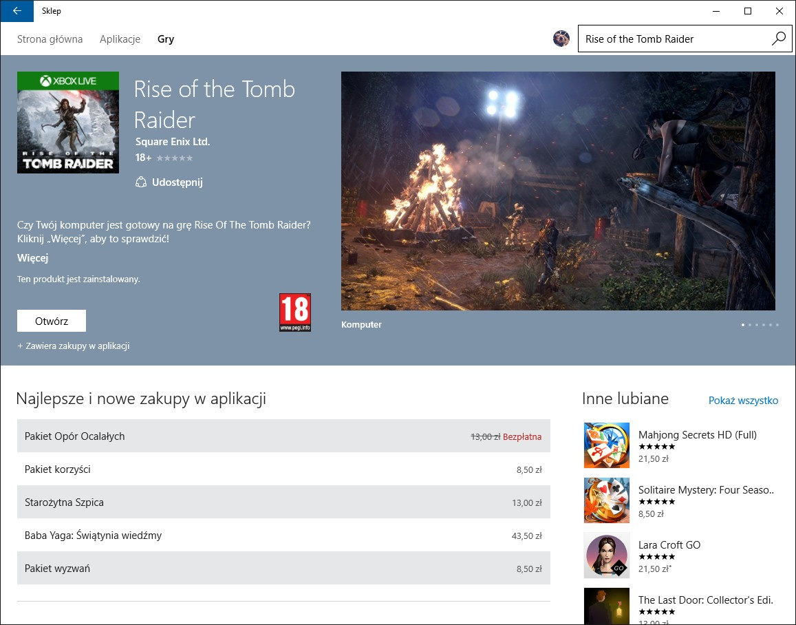 Rise of the Tomb Raider na PC