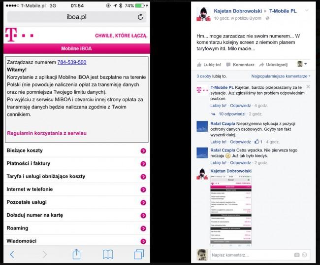 Zgłoszenie awarii T-Mobile sprzed dziesięciu godzin