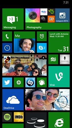 foldery windows phone