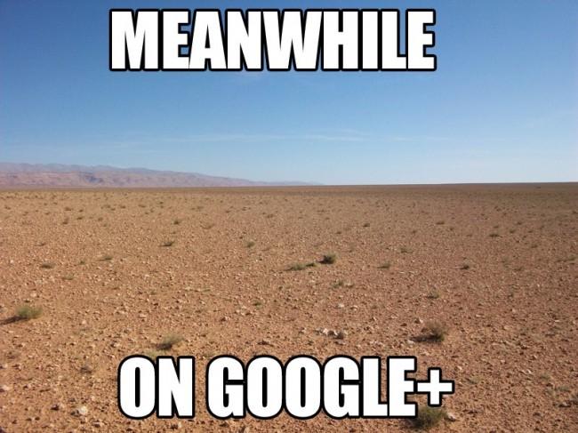 Na Google Plus sporo siędzieje, ale nie jest to serwis dla mas