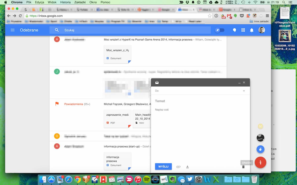 Inbox, nowa poczta